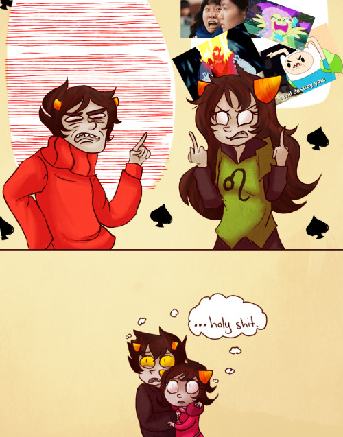 teacupkitty:  What if Meulin and Kankri hated each other :33 (plus bonus katnep because I'm pretty sure their reaction would be priceless)