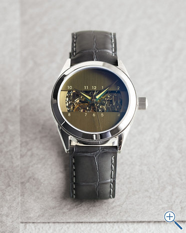 Love. (via Android Modern Leather Watch - Garnet Hill)
