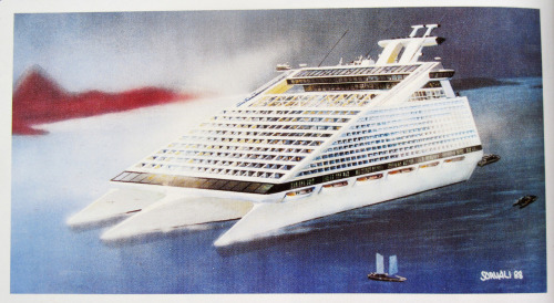 Cruise ship of the future, 1989 (never built).Design Heikki Sorvali.