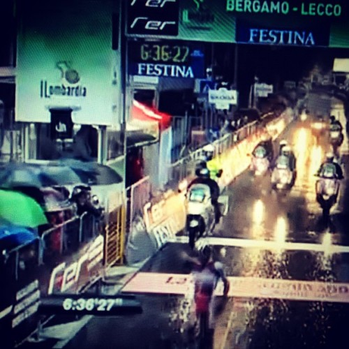 @PuritoRodriguez wins @Il_Lombardia on a solo attack in the dark rain ~ #epic #lombardia #cycling #pro  (Taken with Instagram)