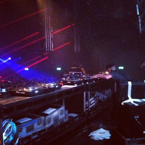 battyriddimz:  Skream at 'Warehouse Project Rinse Opening Night' during his set