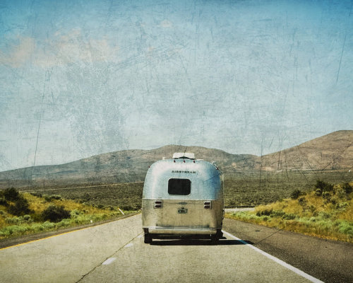 | ♔ |  Road Trip, Airstream, On the Road 8 x 10 Photography  | by ©  Terra Holcomb