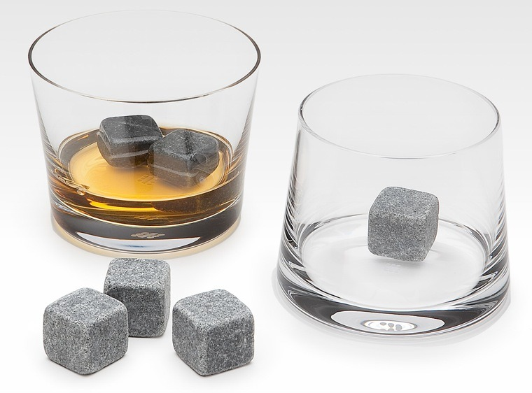 Whisky on the rocks gets a whole new meaning. :) This set of 9 natural soapstones comes with a storage pouch. I think this is the best solution for whisky lovers who want to preserve the taste of their drink. So it's a lot better than using ice. Price: $14 [Amazon]