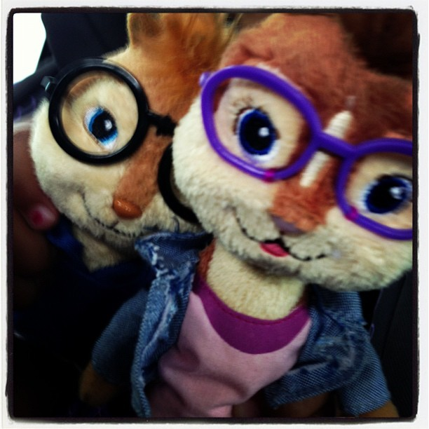 Elenore & Theodore #happytogether another Violet picture special… #alvin #chipmunks #alvinandthechipmunks #violet #toys #kids #baby #love (Taken with Instagram at The Houstonian Hotel, Club & Spa)