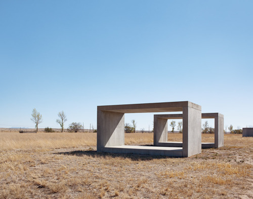 sfmoma:  SUBMISSION: Donald Judd, 15 untitled works in concrete The Chinati Foundation, Marfa, TX Photo: Amanda Kirkpatrick