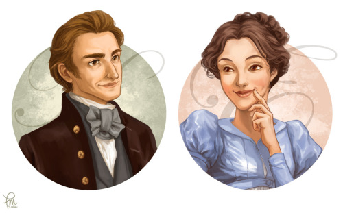 freesoul1705:  Emma and Mr. Knightley by ~flominowa