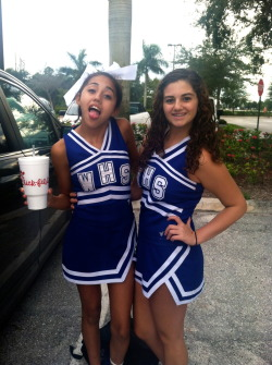game day with my bby giirl<3