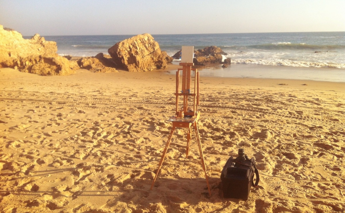 Painting in beautiful Crystal Cove this Friday.