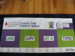 Our banner for the 'Light The Night Walk' tomorrow!