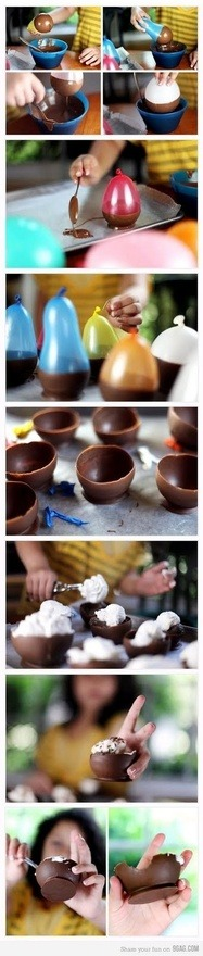 chocolate desert bowls
