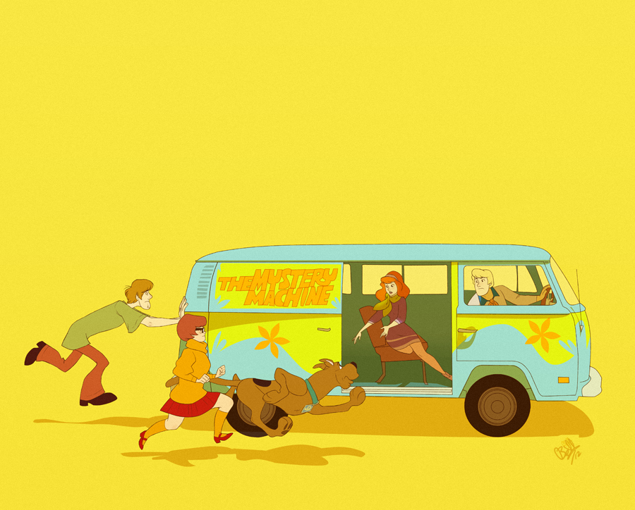 lulubonanza:  Little Mystery Machine by *rollingrabbit