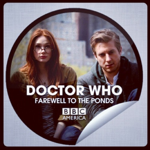 Farewell to the Ponds, you will be missds. Hello to new companion. :-) #doctorwho  (Taken with Instagram)