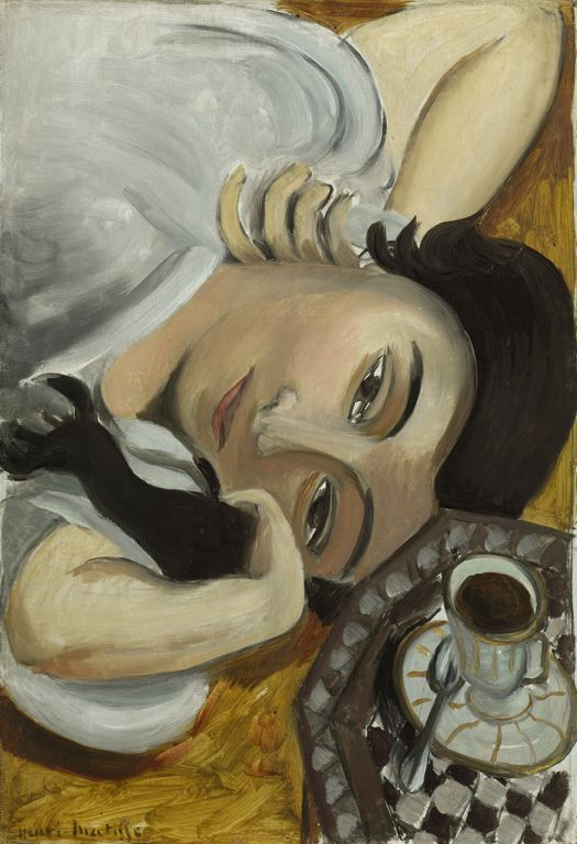 poboh: Lorette with Cup of Coffee, 1916–1917, Henri Matisse.