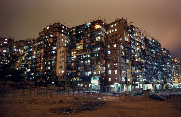 Kowloon Walled City night view www.greggirard.com