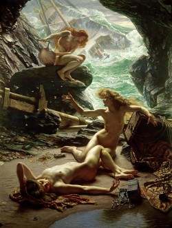 loreoftheocean:  Sir Edward John Poynter - The Cave of the Storm Nymphs (1903)
