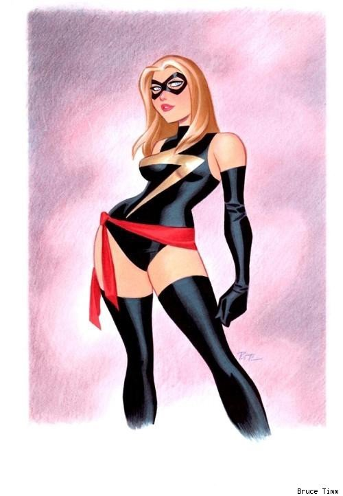 browsethestacks:  Ms. Marvel by Bruce Timm