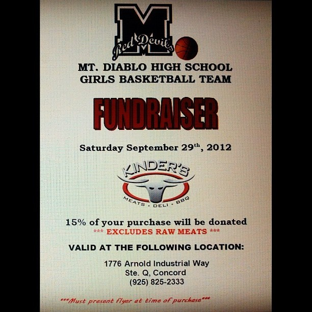 Everyone print out a flyer to help out the LadyDevils' basketball team!! 15% of your purchase goes to our team!!! Help us lady devils out! Everyone loves Kinders! ❤🏀🍛 (Taken with Instagram)