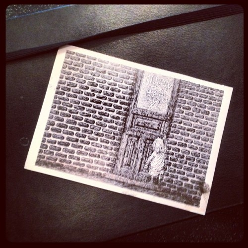 A random Edward Gorey postcard from a friend can really turn your day around. (Taken with Instagram at Delgrossocorp HQ)