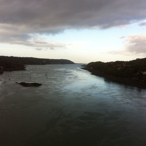 Menai strait from the bridge  (Taken with Instagram)