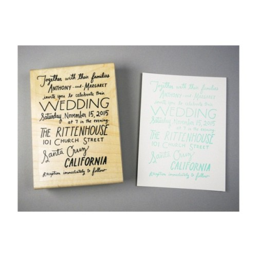 New to paperpastries.com #handlettered #wedding invitation rubber stamp  (Taken with Instagram)