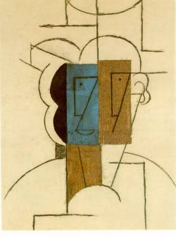 cupoftea1:  Man with a hat, Pablo Picasso, 1912.