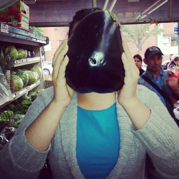 Eggplants as big as your head! @AskAngy #queens  (Taken with Instagram)