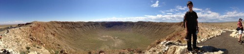 At the top of the Meteor Crater with Cyrus. @b612foundation @astroedlu – View on Path.