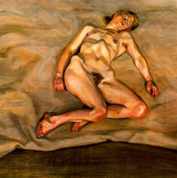 thefineartnude:  Lucian Freud, Naked Girl Asleep I, 1967