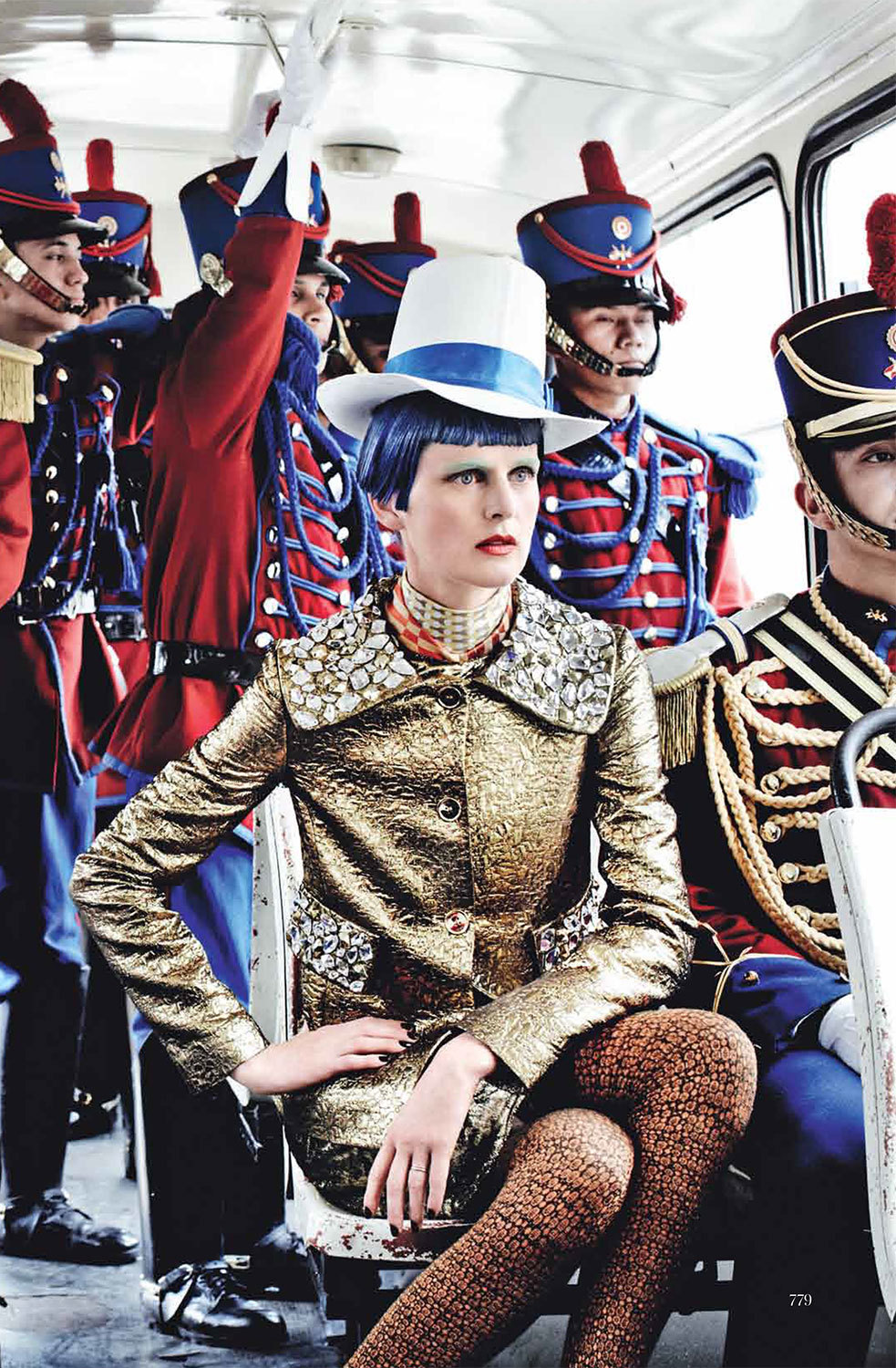 US Vogue September 2012 by Mario Testino El Dorado Stella Tennant Fashion by Camilla Nickerson
