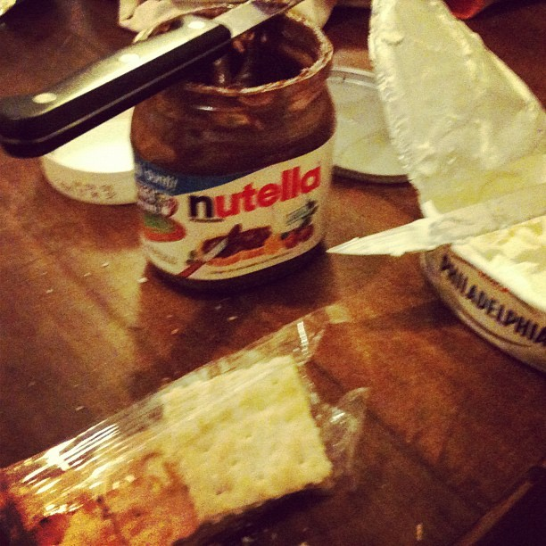 #bestideaever #nutella #food #creamcheese #abroad #italy  (Taken with Instagram at Via Dei Velluti)