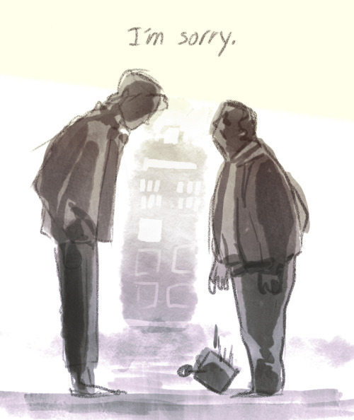 nottoolong:  doctorwho:  #fanart The Doctor goes back to speak with Rory's dad. thegestianpoet:  nNOONOOO   THIS IS WORST THAN THE ACTUAL EPISODE.