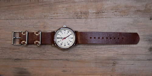 leather watchstrap tutorial