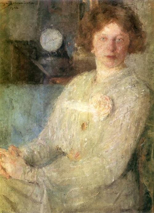 poboh: 1903 Olga Boznanska (Polish, 1865-1940) ~ Portrait of Lady Dygat