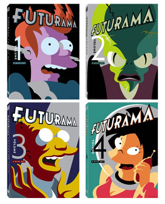 chrishaley:  The streamlined new re-releases of Futurama's original run.