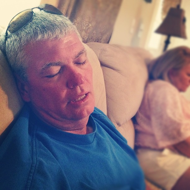 Dad is knocked the fuuuu out.  (Taken with Instagram)