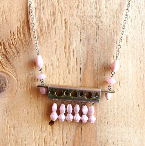 "DIY Hardware Store Necklace Tutorial from Mich L. in LA here. I can see this electrical grounding bar being used to make Steampunk-like harder edged pieces. I always like checking out this blog and her ""What the heck is that made out of?"" series (my words). For more hardware store jewelry tutorials go here: truebluemeandyou.tumblr.com/tagged/hardware, and for more of Mich L. in La's tutorials go here: truebluemeandyou.tumblr.com/tagged/mich-l-in-la. Some of the unusual materials she's used: plastic horse combs castrating bands  baby pacifier"