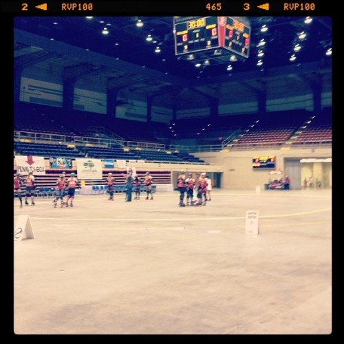 This is the biggest venue I've ever skated in. #boutday #derby #rollerderby  (Taken with Instagram at Savannah Civic Center)