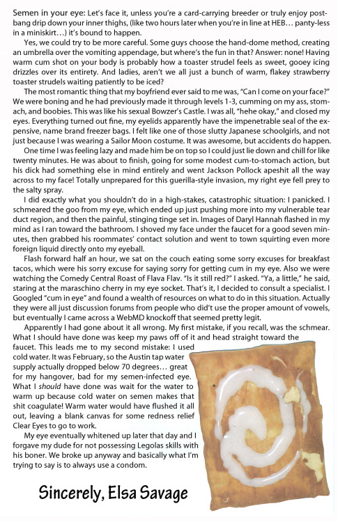 annie-okay:  Toaster Strudel Article from Wet Mattress: Volume 1. July 2012.  best toaster-strudel-in-your-eye story i've read in a long long time