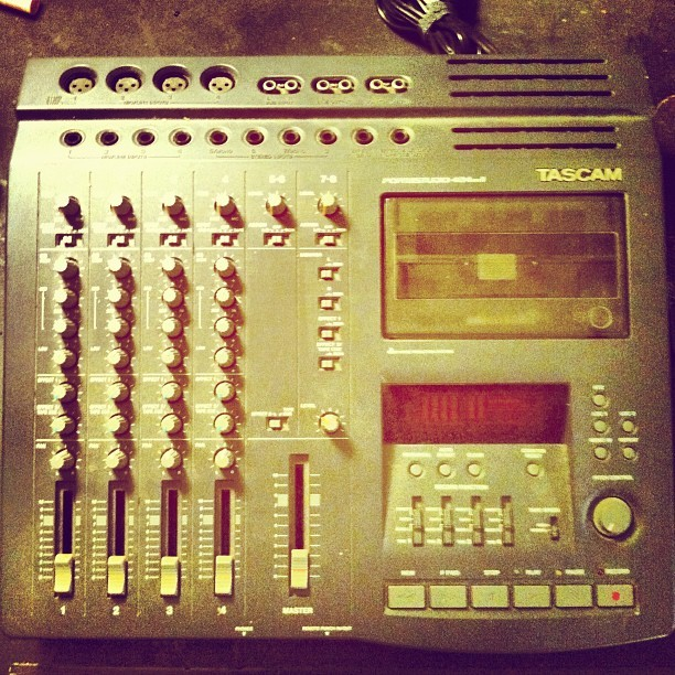 New addition to the fam, #tascam #tapefever #4track  (Taken with Instagram)