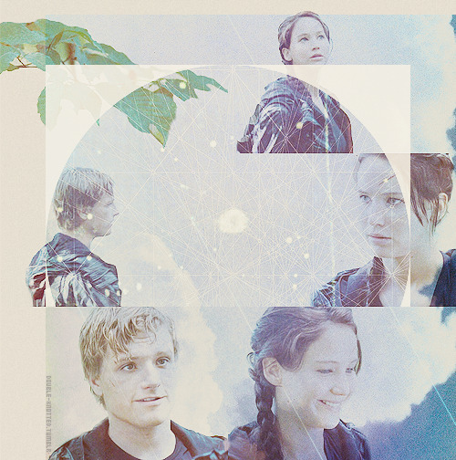 """Peeta and I grow back together. There are still moments when he clutches the back of a chair and hangs on until the flashbacks are over. I wake screaming from nightmares of mutts and lost children. But his arms are there to comfort me. And eventually his lips. On the night I feel that thing again, the hunger that overtook me on the beach, I know this would have happened anyway."""