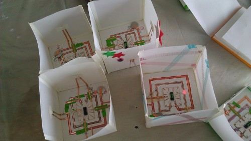 BOXES, paper circuits with Parsons in the young makers tent