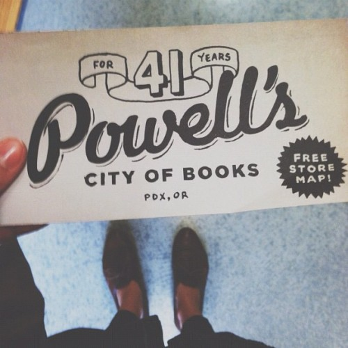 plantbywater:  A bookstore so big they provide you with a map. At 68,000 square feet, I'm glad they do :) #thisisportland #powells (Taken with Instagram)