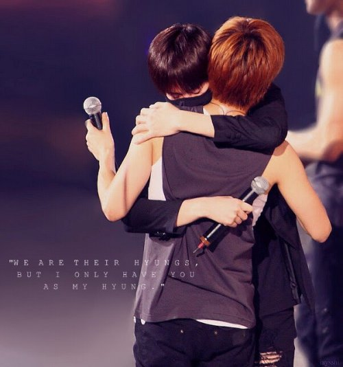 """We are their hyungs, but I only have you as my hyung."" - Kim Heechul"