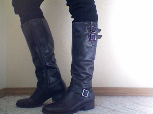 moms got me boots for my birthday, which is next friday (oct 5th). turning 22! is it bad to wear them before my birthday? noooope.