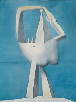 cupoftea1:  Nude standing by the sea, Pablo Picasso. Inspired by Picasso's muse Marie-Thèrese Walker.