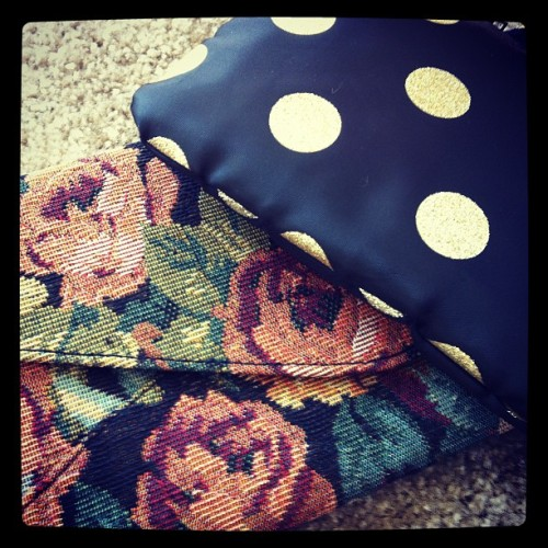 More pattern love showing up in an awesome clutch & a makeup pouch. @MartialChef20: may have to take this to Paris w/me! ;) (Taken with Instagram)