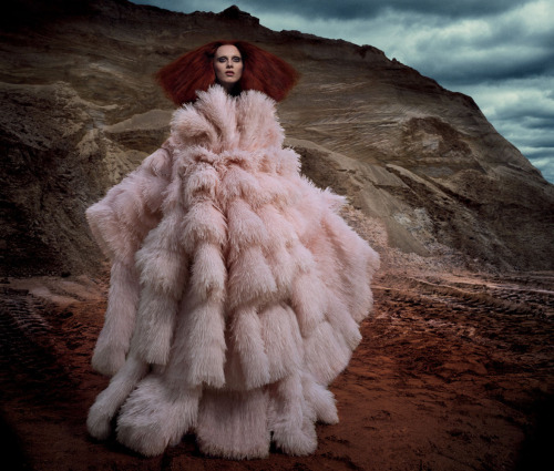"""If You Obey All the Rules, You Miss All the Fun,"" featuring Karen Elson, photographed by Daniele Duella and Iango Henzi for i-D (Fall 2012)."
