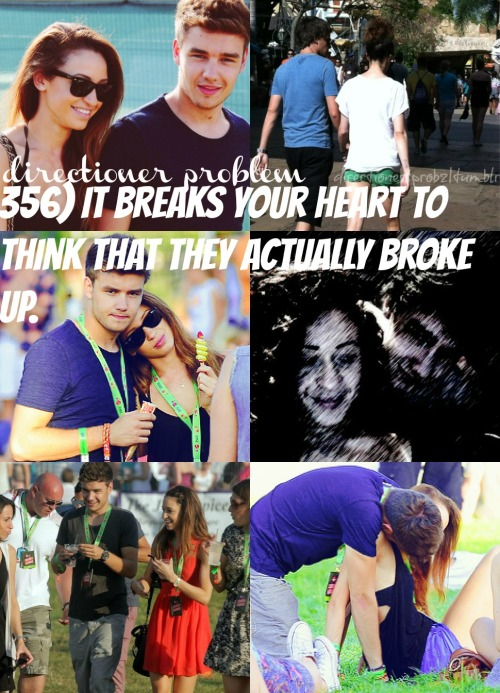 356) It breaks your heart to think that they actually broke up. so at first when i heard about it i was like that bullshit they would never break up but now i'm honestly starting to believe it. when i first heard about it on tuesday and i was sitting in mary's hamburgers right before the ed sheeran concert in chicago idk im just hoping for the best because it will kill me if theyve actually broken up
