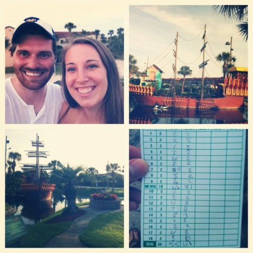 Bye week date in St. Augustine. #minigolf #allenwon  (Taken with Instagram)