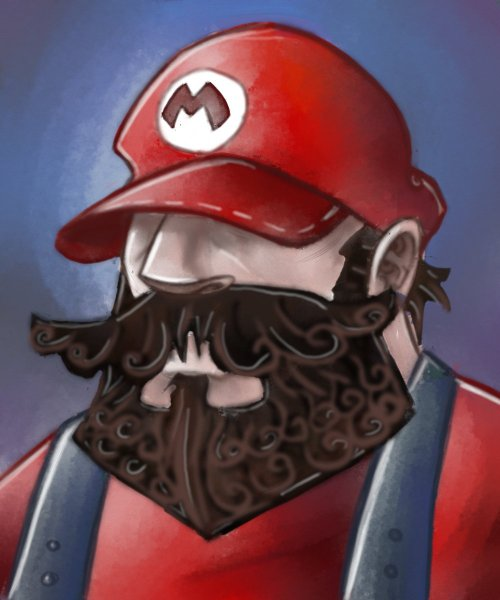 Mario's beard is cooler than you